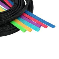 PET Colored Expandable Braided Cable Sleeving