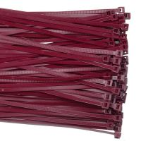 8' Mounting Hole Air Handling Cable Ties For Plenum Areas | Burgundy |100 Pcs